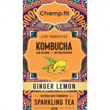 Kombucha Ginger Lemon Sparkling Tea