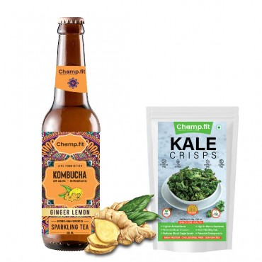 Kombucha zero sugar + Kale crisps - Combo