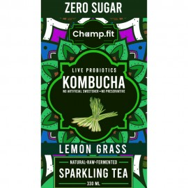 Kombucha Lemon Grass Sparkling Tea Zero Sugar